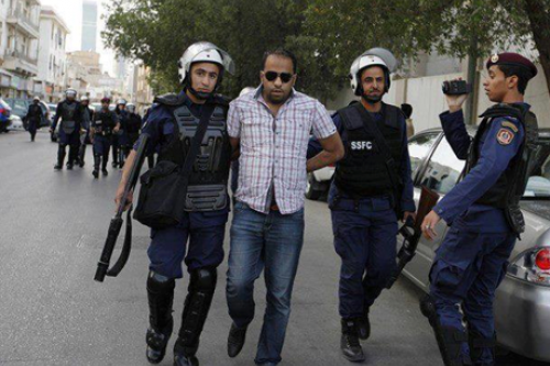 Photo of Ali Haji being arrested during his participation in a previous protest