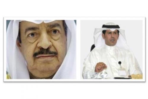 (Left) PM Khalifa Al Khalifa (Right) Mubarak ben Huwail