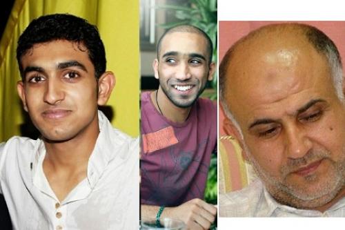 from left: Mansoor AlJamri, Ahmed AlArab, Hussain AlGhasrah