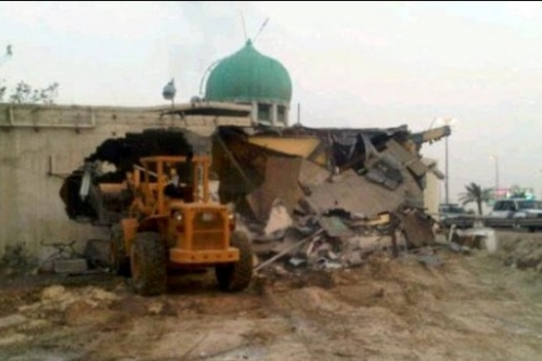 Demolishing Barbaghi mosque in April 2011
