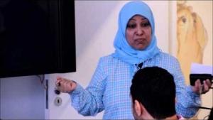 24 06 2013 لندن منظمة الخط الاحمر الاستاذة خديجة الموسوي تبكي وهي تشرح كيف اعتقل أ الخواجة