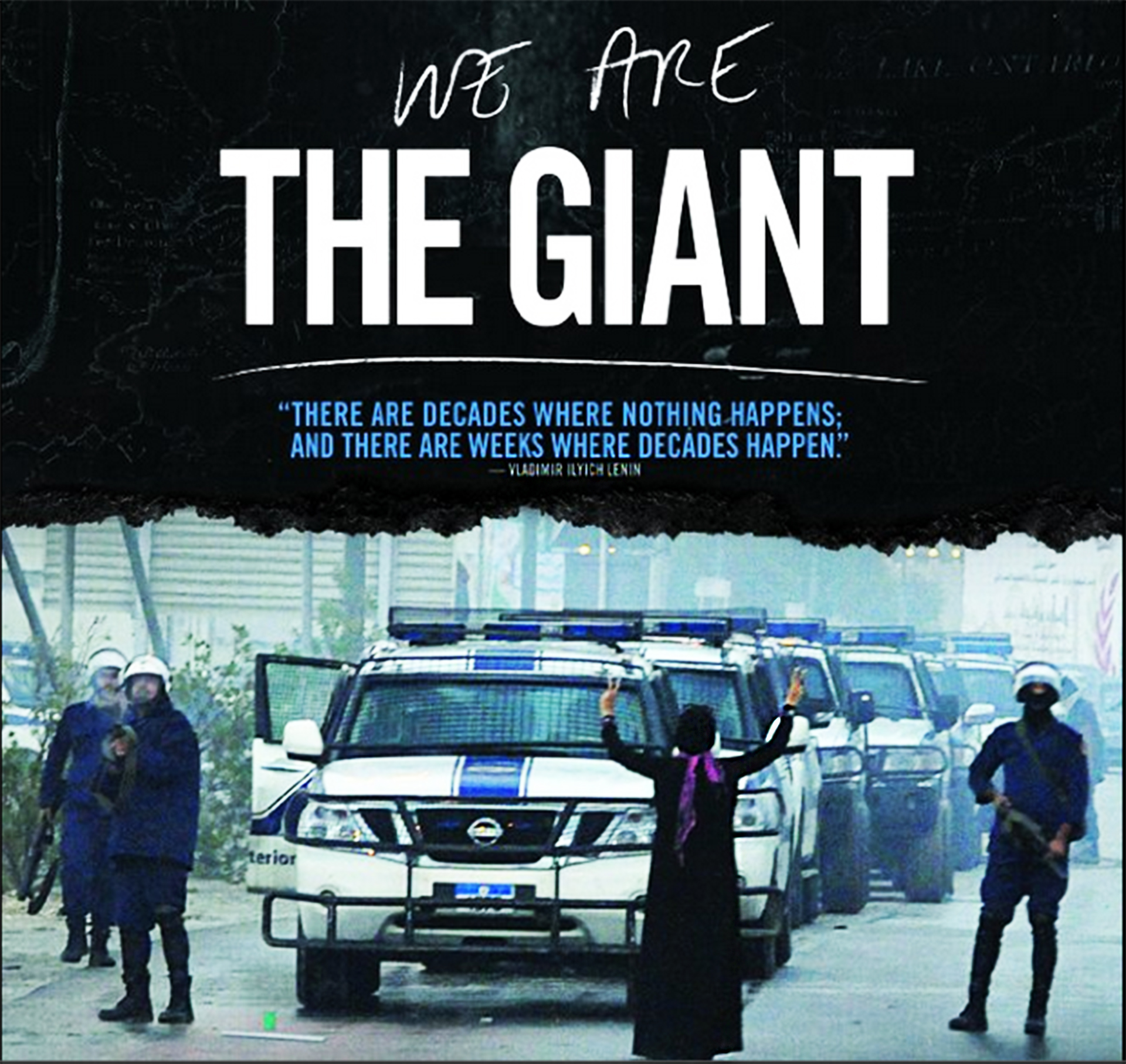 """We are the giant"" documentary cover"